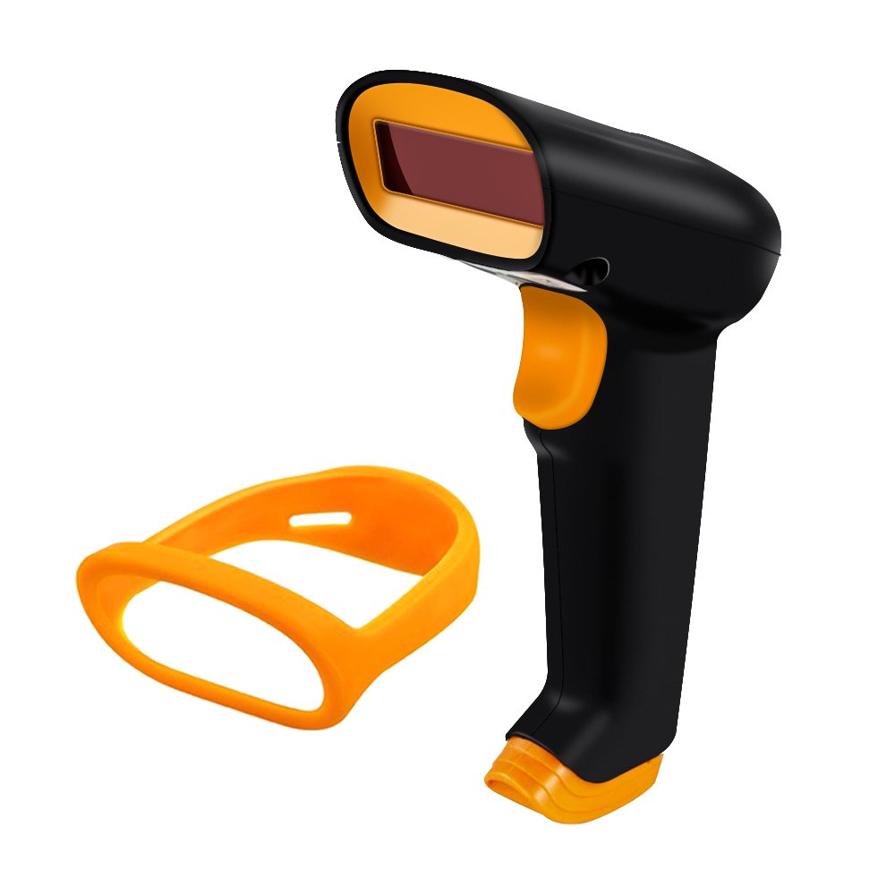 2.4G Wireless Barcode Scanner NETUM Wireless/Wired Barcode Bar Code Scanner Reader Handheld 1D Barcode Reader with USB Receiver for Computer Laptop Mac Library UPC