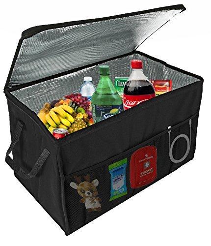Insulated–Caja Consola Organizador por lebogner–Vacaciones X-Large Trunk Cooler coche para comida caliente o...