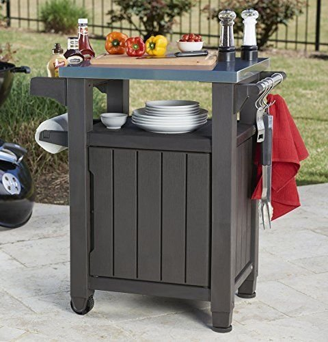 Keter Unity Indoor Outdoor BBQ Entertainment Storage Table / Prep Station with ..#from-by#_abood.av it#199172317511378