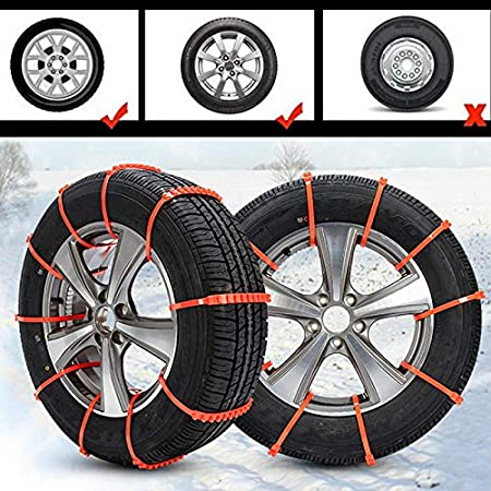 Car Winter Driving Security Chains Nicknocks Car Anti-Skid Snow Tyre Tire Wheel Chain Strap Emergency Security