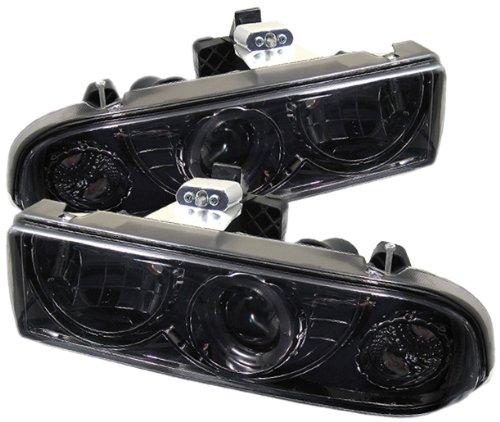 Spyder Auto PRO-YD-CS1098-SMC Chevy S10/Chevy Blazer Smoke Halo Projector Headlight (S10 Headlight Blazer Chevy)