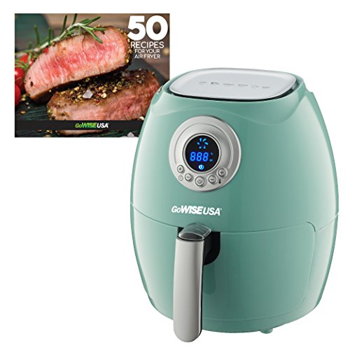 GoWISE USA 2.75-Quart Air Fryer + 50 Recipes for your Air Fryer Book (Mint)