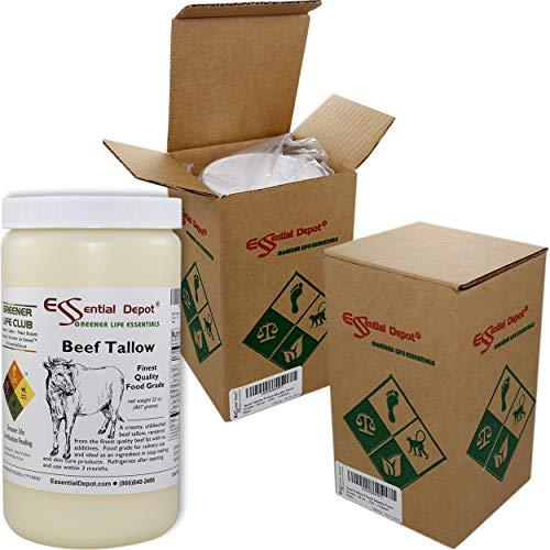 Beef Tallow Finest Quality Food Grade - 32 oz. - 2 lb. - 1 Quart (Grass Fed Beef Roast)