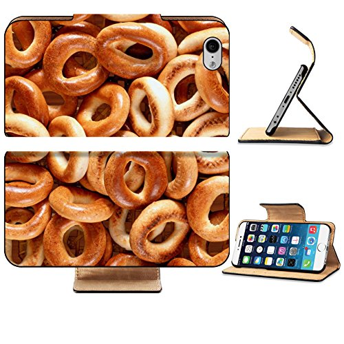 Luxlady Premium Apple iPhone 6 iPhone 6S Flip Pu Leather Wallet Case IMAGE ID 26221639 bagels texture for your backgrounds and web