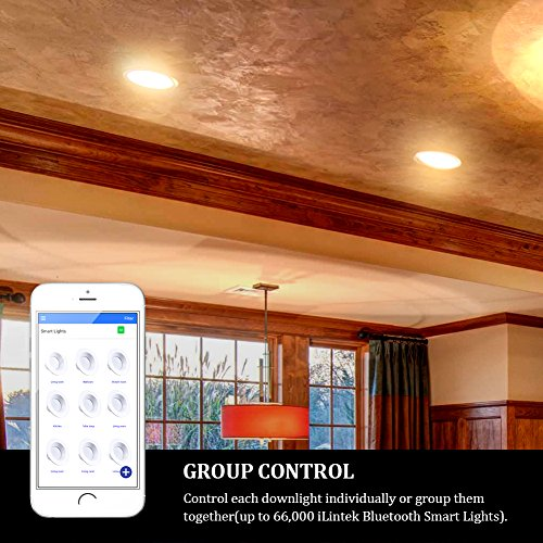 iLintek Smart LED Downlight, 6 inch Multicolored Dimmable,Bluetooth App Controlled,Party Disco Color Changing Light Bulb 2700K-6500K,BLE Mesh Group Controlled,13W-Equivalent 85w,No Hub Required by Ampadina (Image #2)