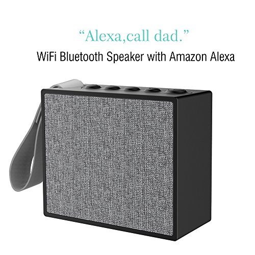 Cheap Portable WiFi Bluetooth smart Speaker with Enhanced Bass sound, support Amazon Alexa, Spotify Online Music; Voice Control and Hands Free Call ÿ