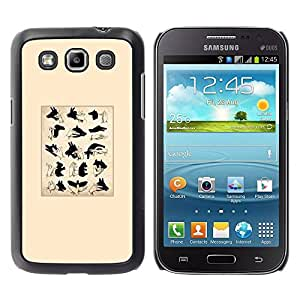 Paccase / SLIM PC / Aliminium Casa Carcasa Funda Case Cover para - Signs Puppet Shadow Minimalist - Samsung Galaxy Win I8550 I8552 Grand Quattro