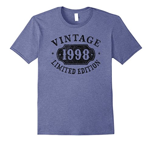 Mens 20 years old 20th B-day Birthday Gift 1998 Limited T-Shirt Large Heather Blue