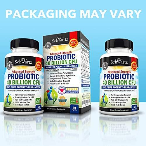 Probiotic 40 Billion CFU Guaranteed Potency until Expiration - Patented Delay Release, Shelf Stable - Gluten Dairy Free Probiotics for Women & Men - Lactobacillus Acidophilus - No Refrigeration Needed 6