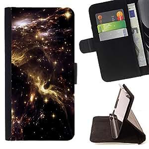 BullDog Case - FOR/Apple Iphone 6 / - / universe sky nebulae stars lights cosmos /- Monedero de cuero de la PU Llevar cubierta de la caja con el ID Credit Card Slots Flip funda de cuer