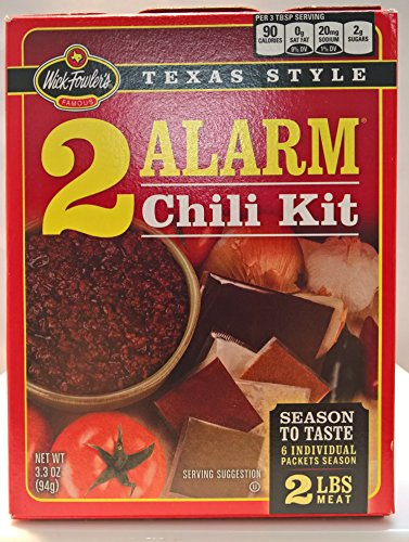 Wick Fowler, Chili Kit 2 Alarm, 3.3 Ounce