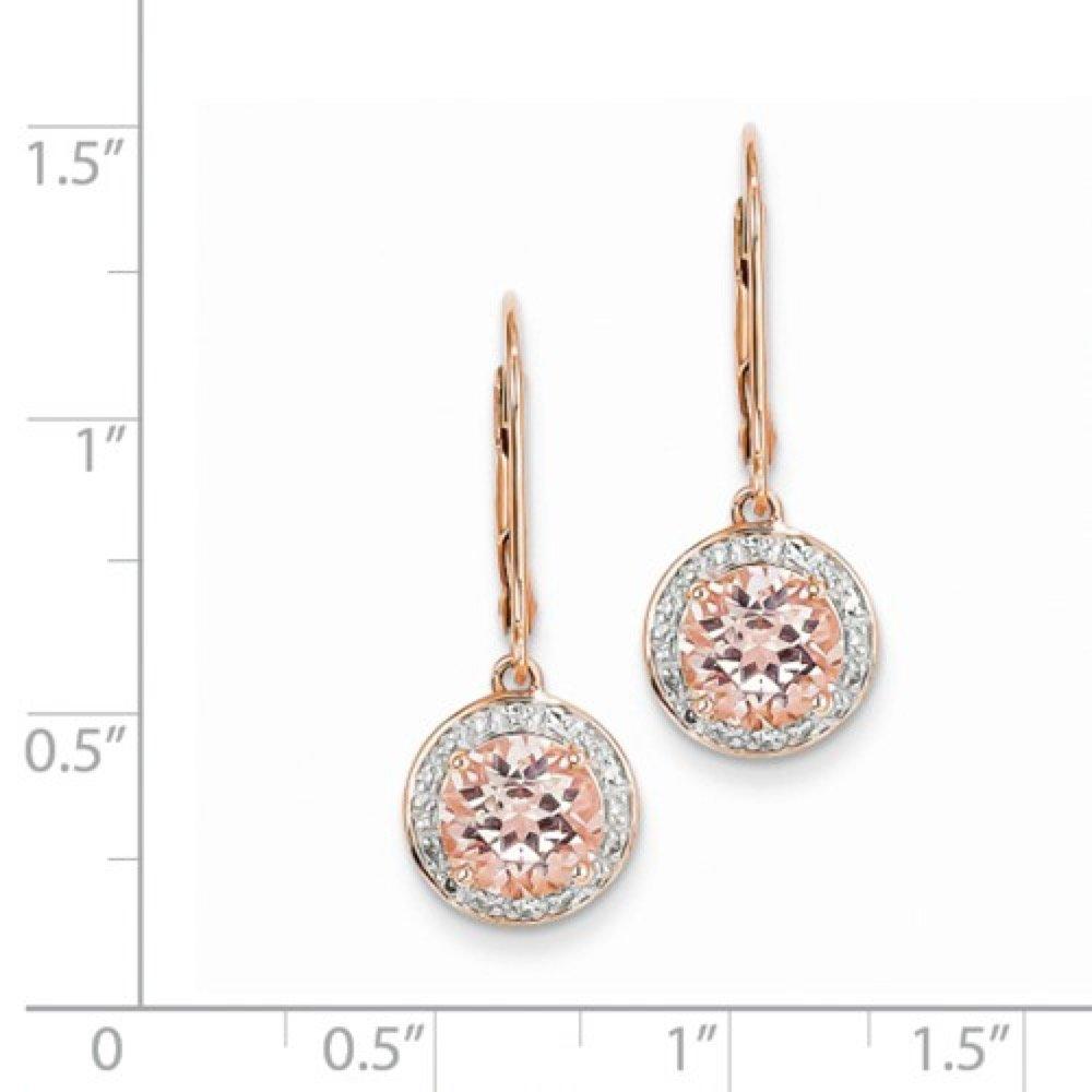 Roxx Fine Jewelry™ Diamond and Morganite Halo Necklace 2.83 Ct. TCW XP4182MG/AA by Roxx Fine Jewelry (Image #6)