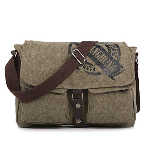Vintage Leisure Single Shoulder Bag Mini Backpack Messenger Chest Bag for Men (Brown) - 4