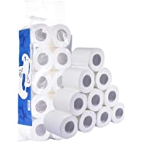 Toilet Paper, Ultra Soft Touch Professional Series Premium 3-Ply Toilet Paper Home Kitchen Toilet Tissue, Soft Strong and Highly Absorbent Degradable Roll Paper Hand Towels for Daily Use (White)