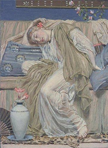 Amazon com: Oil Painting 'Albert Moore - A Sleeping Girl