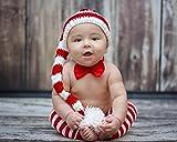 Valentine's Day Red Stripe Baby Boys Girls Crochet Elf Hat 6 month - toddler