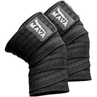Mava Sports Knee Wraps (Pair) for Cross Training WODs,Gym...