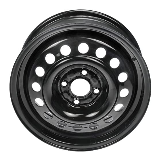 Dorman – OE Solutions Black Wheel with Painted Finish (15 x 5.5 inches /4 x 3 inches, 40 mm Offset)