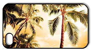 design iphone 6 4.7 cases beach palm trees PC Black for Apple iphone 6 4.7