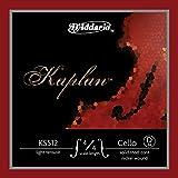 D\'Addario Kaplan Cello Single D String, 4/4 Scale, Light Tension