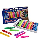 12 Colors Face Paint Crayons Non-toxic & Washable Body Painting Kits for Halloween Carnival Costumes Birthday Parties by Happlee