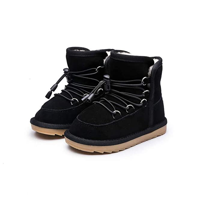 92ae362494173 Amazon.com: Boys Ankle Snow Boots Baby Toddler Girl Winter Shoes ...