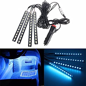 car interior lights glime 4 piece 12 led car atmosphere light interior underdash. Black Bedroom Furniture Sets. Home Design Ideas