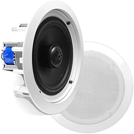Pyle PDIC60T 6.5 inch Two Way In Ceiling Speaker with 70V Transformer