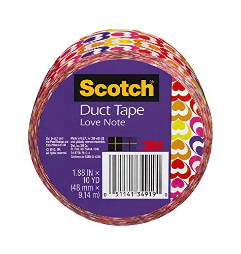 Scotch Duct Tape, Love Note, 1.88 Inch x 10 Yards