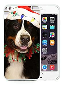 Fashion Style iPhone 6 Plus Case,Christmas Dog White iPhone 6 Plus 5.5 TPU Case 27