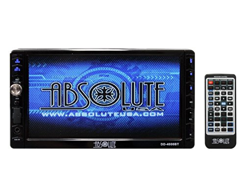 Absolute USA DD-4000BT 7-Inch Double Din Multimedia DVD Player Receiver with Touch Screen System Display and Detachable Front Panel Built-In Bluetooth