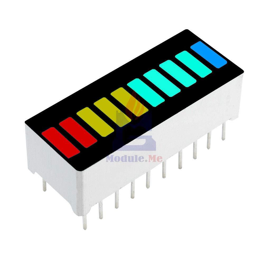 5 Pcs 10 Segmente Farbe LED Balkendiagramm Graph Anzeige DIP Blau Grün Gelb RSJF