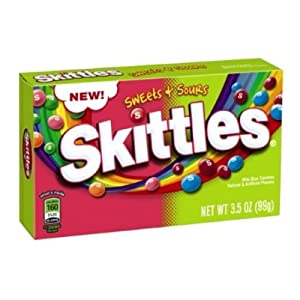 Skittles Sweets and Sours Candy, 3.5 Ounce -- 12 per case.