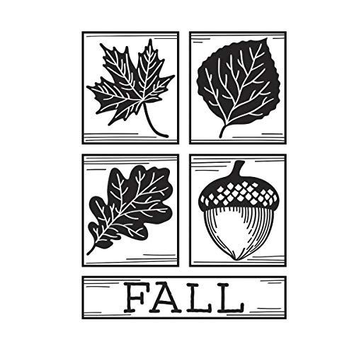 (Darice Fall Square Collage Embossing Folder)