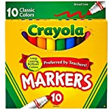 Crayola Broad Line Markers, Classic Colors 10 Each (Pack of 24) - ASIN: B000F5SF52 Broad Line Markers, Classic Colors 10 Each