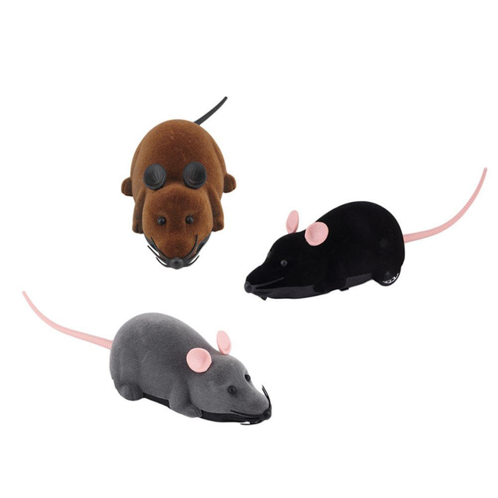 Binnan Juguete Mini Ratón Rata con Control Remoto de Dos Canales para Gatos o Niños, Gris: Amazon.es: Electrónica