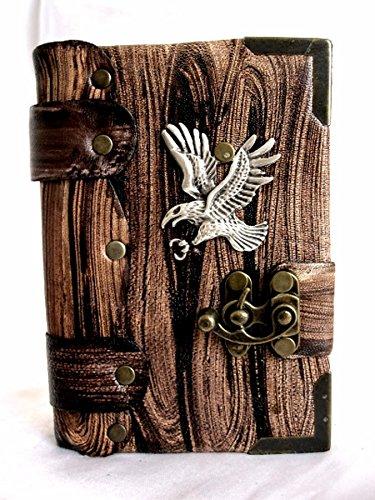 Leather bound journal, handmade Eagle emblem leather notebook, sketchbook,handmade Leather Diary.Leather notebook