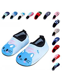 Lauwodun Kids Swim Water Shoes Boys Girls Toddler Barefoot Aqua Sock Shoes for Beach Pool Surfing Yoga Swimming Walking Unisex