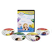 Brainy Baby Right Brain, Left Brain, Peek a Boo, Laugh and Discover Early Discovery 4 Pack DVD Collection Deluxe Edition