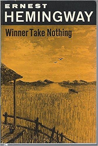 Book WINNER TAKE NOTHING, SL 155, The Scribner Library