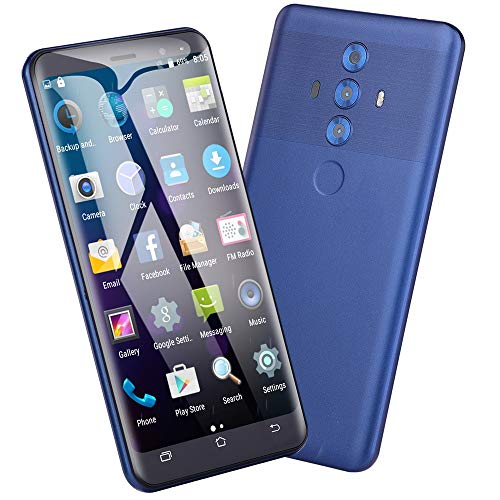 Full Screen Smartphone, NDGDA 5.0 inch Dual SIM Smartphone Android 6.0 GSM/WCDMA Touch Screen WiFi Bluetooth GPS 3G Call Mobile Phone (Blue)