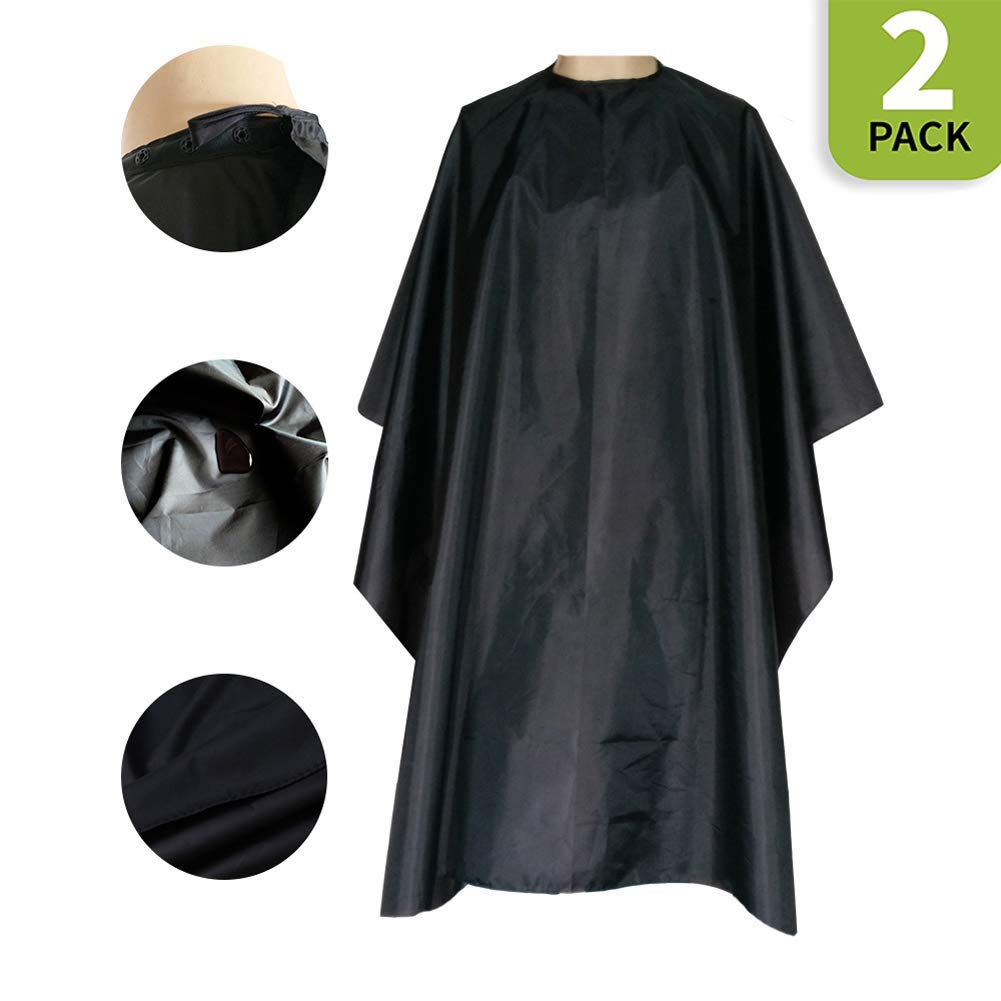 Magiczone Professional Barber Cape - Salon Cape with Snap Closure - Nylon Hair Cutting Cape, Hairdresser Cape - 59'' x 51'', 2 Pack by Magiczone