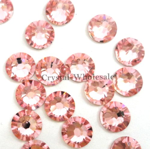 Light Rose (223) Swarovski 2058 Xilion / NEW 2088 Xirius 20ss Flat backs Rhinestones 5mm ss20 (144 pcs)
