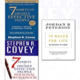 Books : 12 rules for life [hardcover],7 habits of highly effective people,personal workbook 3 books collection set