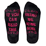 Funny Gifts for Women/Men/Mom/Dad/Grandma/Grandpa Novelty Cotton Socks Stocking Stuffers for Christmas,Birthday,Wine Lover,White Elephant Father/Mother's DayBD-1 (c+f)