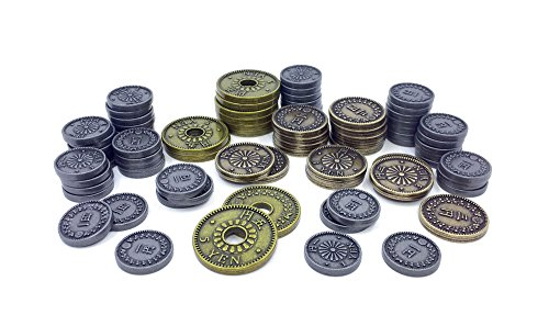 Metal Coin Upgrade Pack for Yokohama Board Game by Tasty Minstrel Games