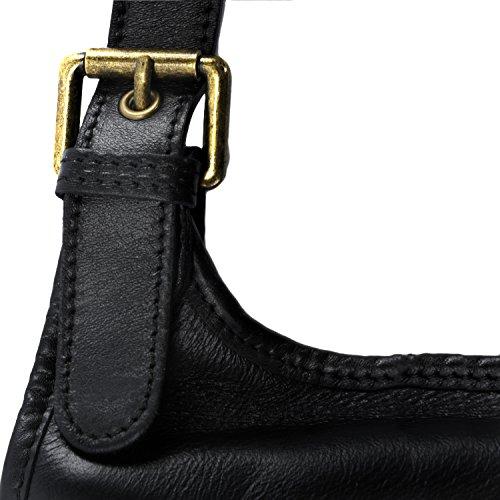 negro de cuero M bandolera cm Bolso 30 llevado de Modelo mano 7 x x 25 qSUwwxEn6