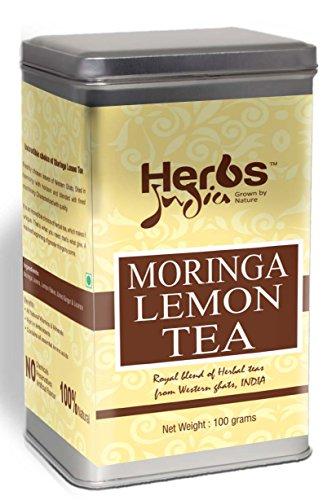 Moringa Lemon Tea - Loose Tea (100 Gms) - All Natural - No Preservative - No Artificial Flavors - Rich in Antioxidants - Herbs India