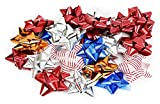 Arts & Crafts : Pack of 36 Christmas Star Bows. Peel-n-stick.