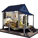 Rylai 3D Puzzles Wooden Handmade Dollhouse Miniature DIY Kit -Happiness Coast Series Beach House & Furniture Dollhouses 2015 X'mas Gift( 1:24 Scale Dollhouse)